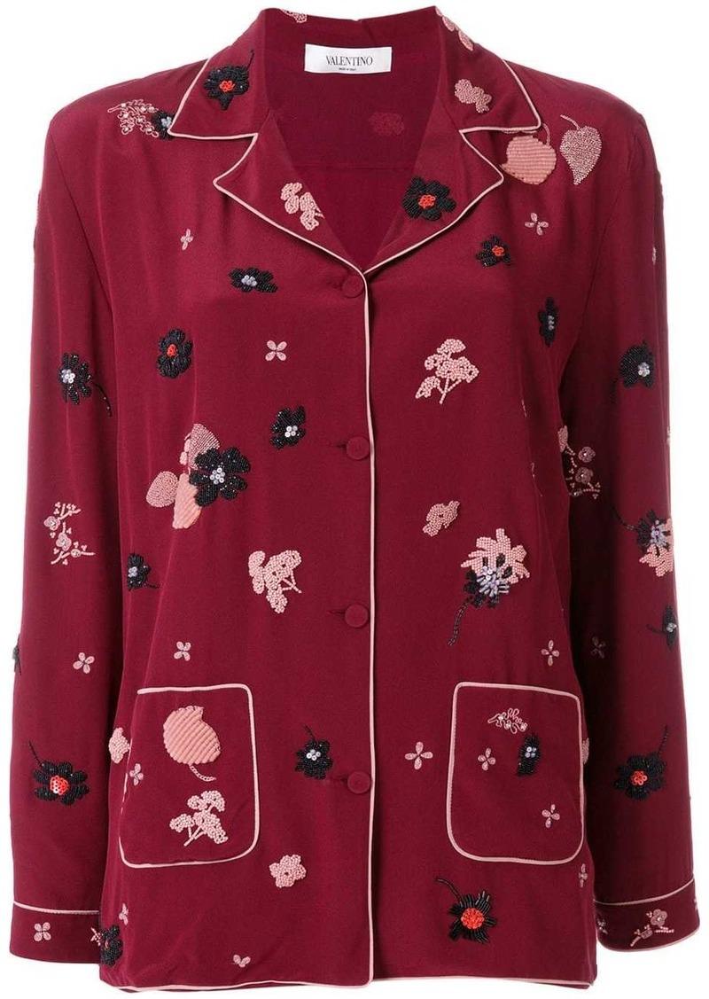 Valentino floral patch pyjama top