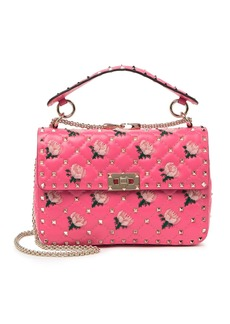 Valentino Floral Quilted Flap Shoulder Bag