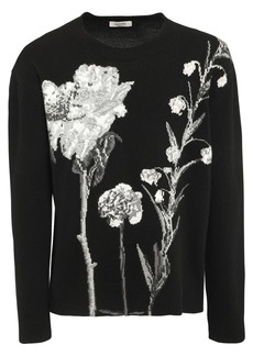 Valentino Floral Wool & Cashmere Sweater