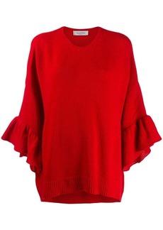 Valentino flounce sleeve jumper