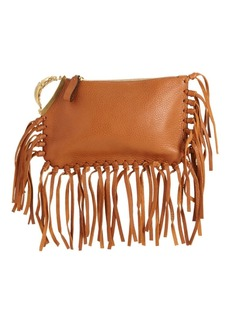 Valentino Fringe Leather Clutch