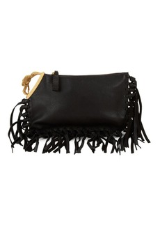 Valentino Fringed Leather Clutch