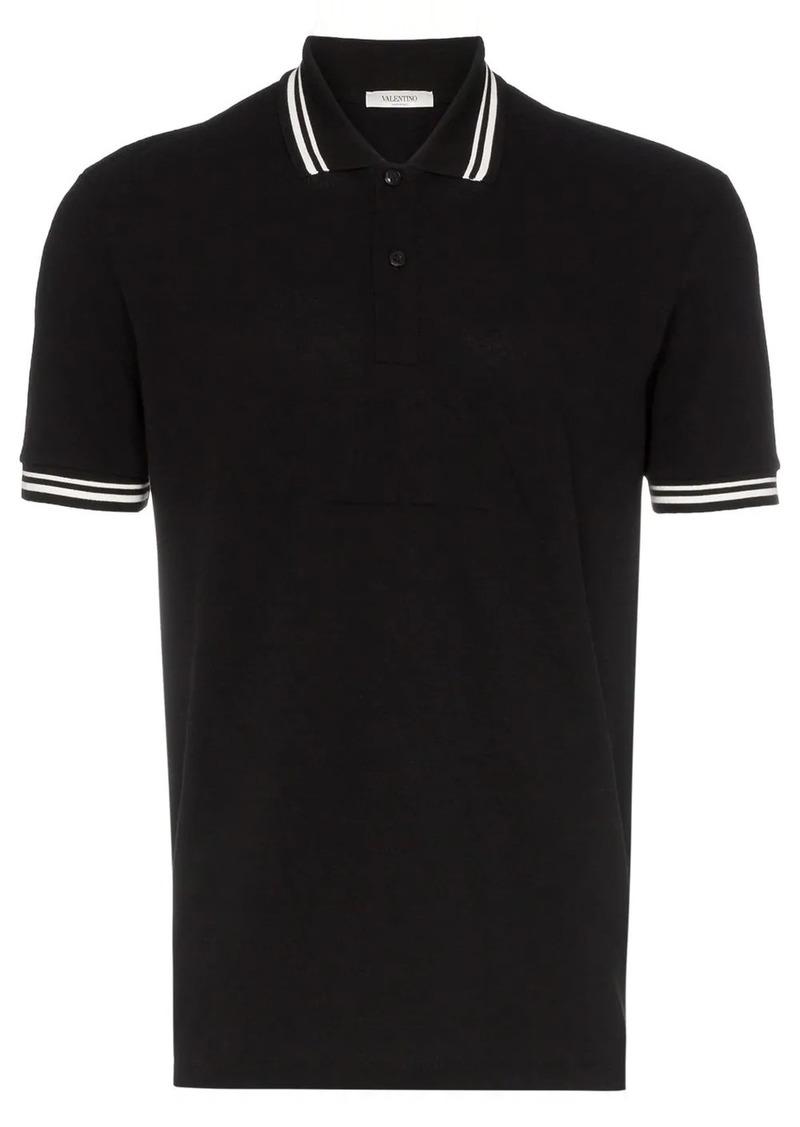 Valentino Garavani debossed logo stamp cotton polo shirt