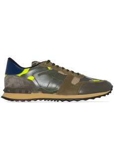 Valentino Rockrunner leather camouflage print sneakers