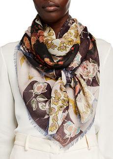 Valentino Garden Party Floral Cashmere/Silk Shawl