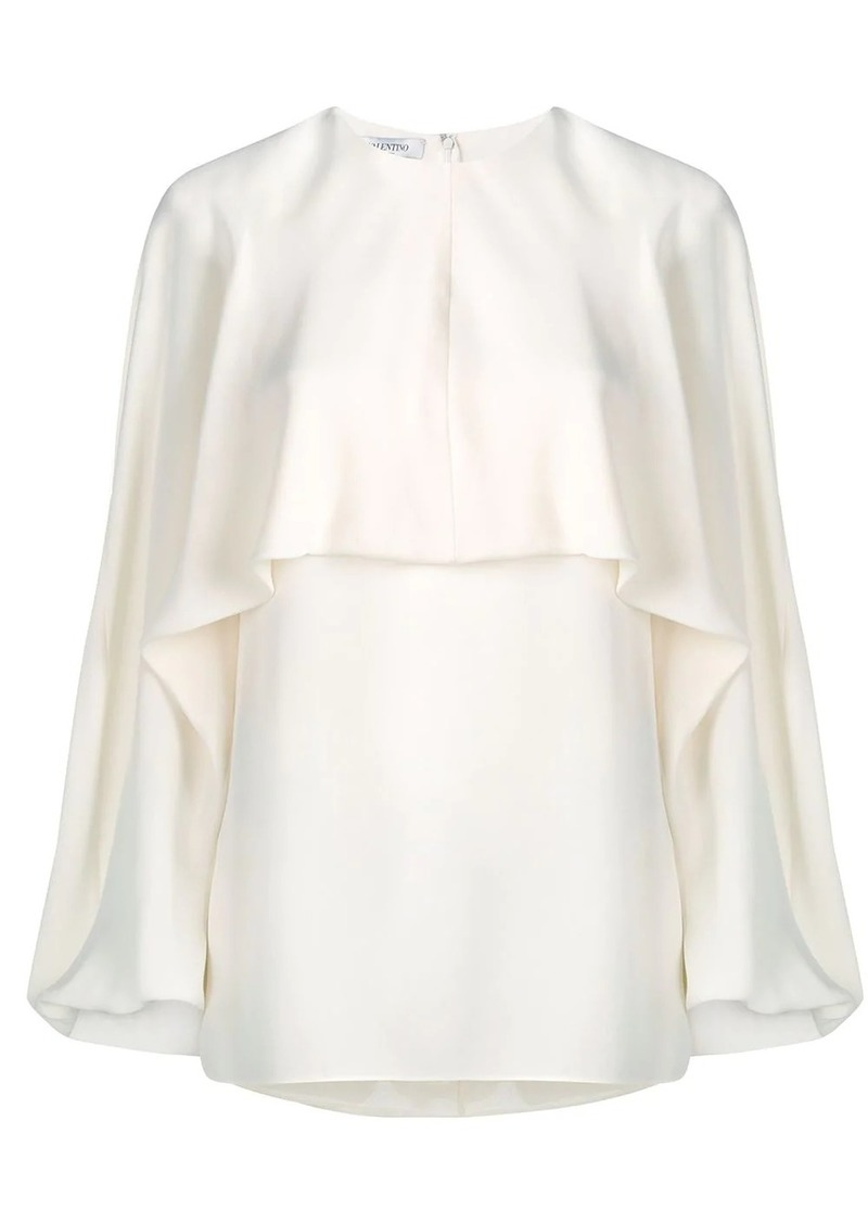 Valentino Georgette silk top
