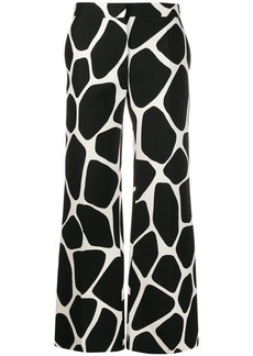 Valentino giraffe print palazzo trousers