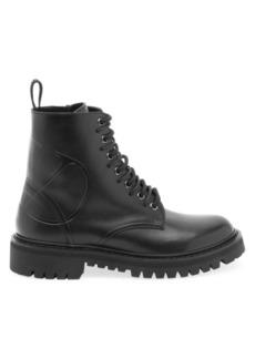 Valentino Garavani VLogo Leather Combat Boots