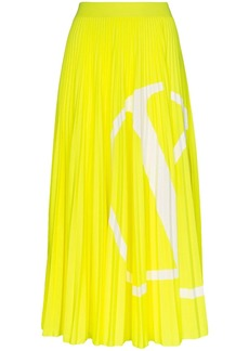 Valentino VLOGO pleated midi skirt