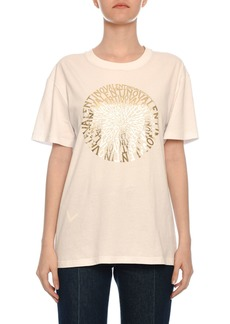 Valentino Golden Vertigo Print Short-Sleeve Crewneck Cotton Jersey T-Shirt