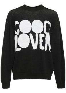 Valentino Good Lovers Jacquard Wool Sweater