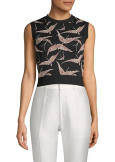 Valentino Graphic Cropped Top