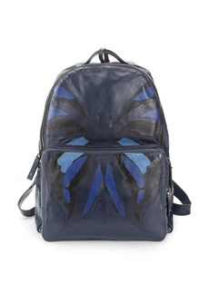 Valentino Graphic Leather Backpack