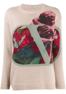 Valentino graphic print jumper