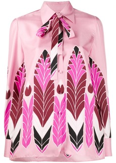 Valentino Pop Feathers print twill shirt