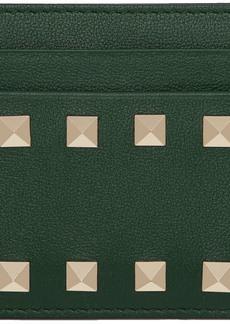 Green Valentino Garavani Rockstud Card Holder