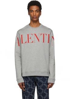 Valentino Grey & Red Logo Sweatshirt