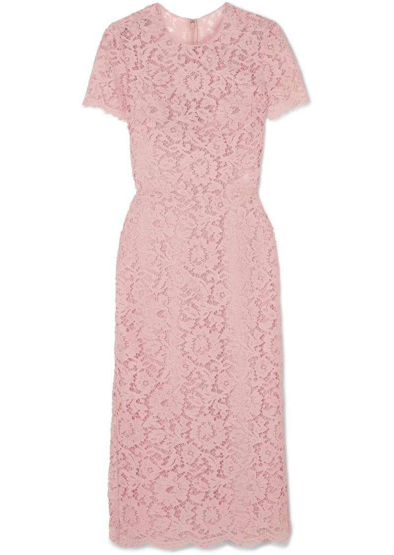 Valentino Guipure Lace Midi Dress