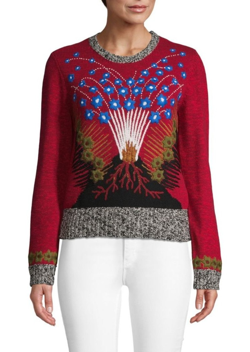 Valentino Hawaiian Couture Embroidered Sweater