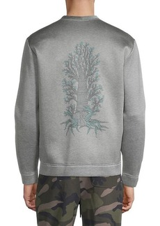 Valentino Heathered Cotton-Blend Sweatshirt