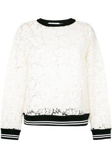 Valentino Heavy Lace sweatshirt