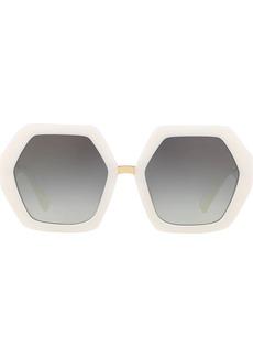 Valentino hexagonal oversized V logo sunglasses