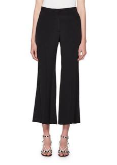 Valentino High-Rise Flared-Leg Cropped Silk Pants