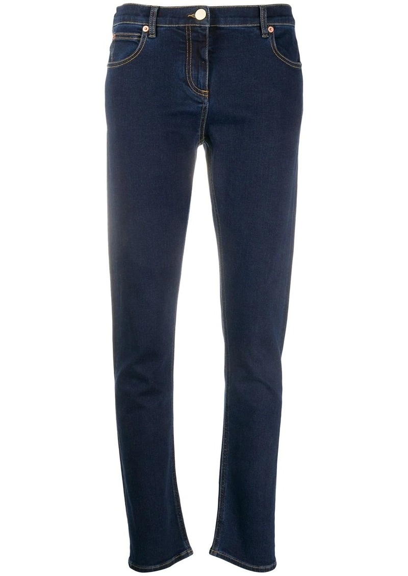 Valentino high-rise straight leg jeans