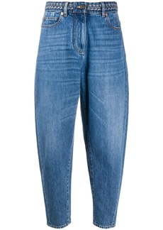 Valentino high-rise tapered jeans