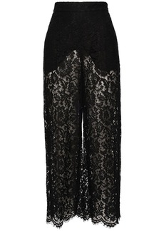Valentino High Waist Heavy Lace Pants