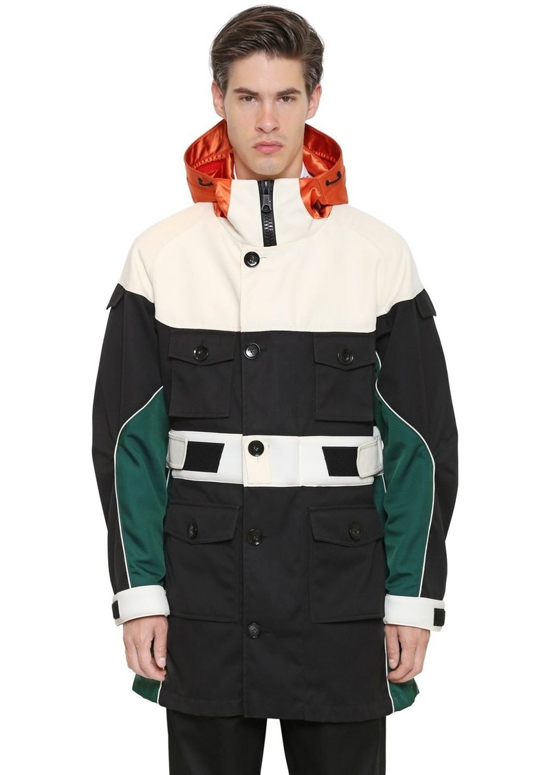 On Sale today! Valentino Hooded Color Block Parka 184fc436252f