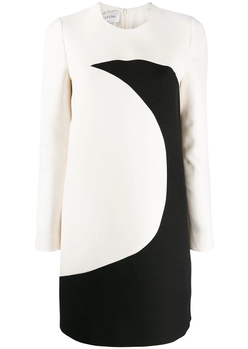 Valentino illusion long-sleeve shift dress