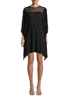 Valentino Illusion Wool Blend Shift Dress