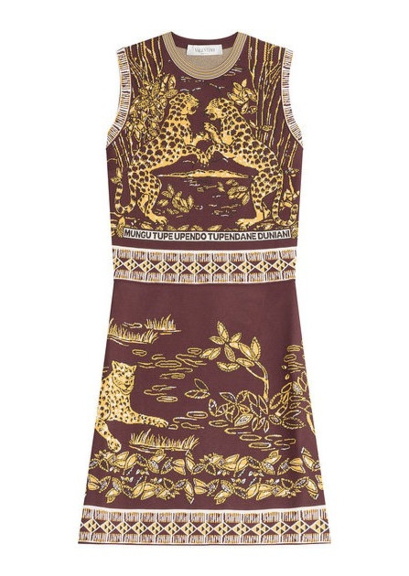 Valentino Intarsia Dress