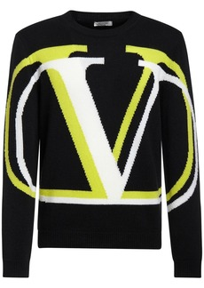 Valentino Intarsia Knit Cashmere & Wool Sweater