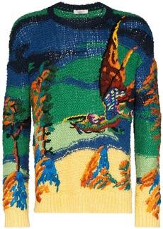Valentino intarsia knit dragon motif jumper