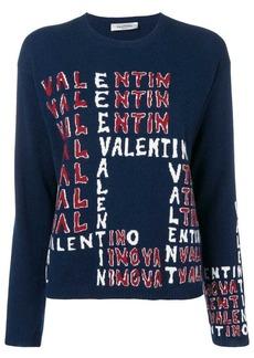 Valentino intarsia logo jumper