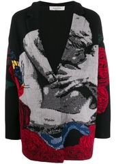 Valentino intarsia oversized cardigan