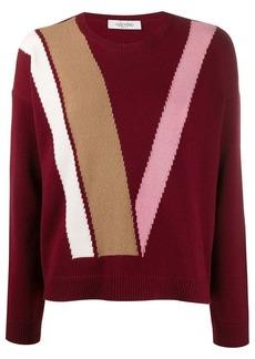 Valentino intarsia virgin wool jumper