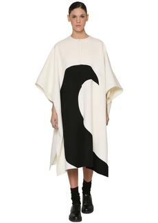 Valentino Intarsia Wool & Cashmere Cape