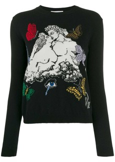 Valentino jacquard knitted jumper