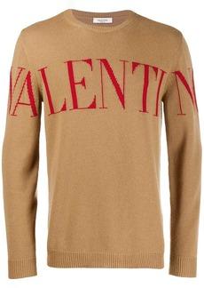 Valentino jacquard logo sweater