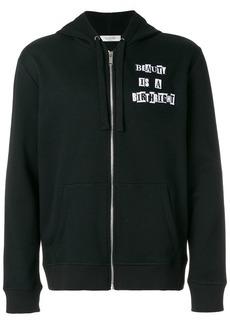 Valentino James Reid quote appliqué hoodie