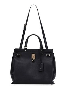 Valentino Joy Lock Medium Leather Satchel Bag