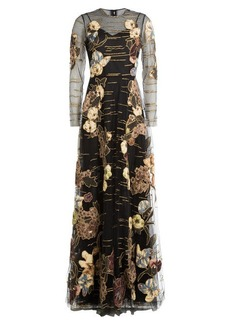 Valentino Kimono 1997 Hand Embroidered Tulle Gown