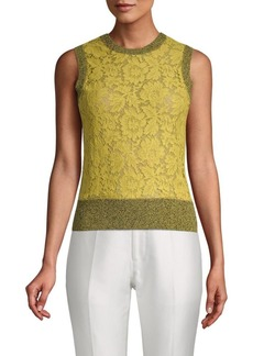Valentino Knit Sleeveless Tank Top