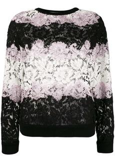 Valentino Lace applique stripe sweater
