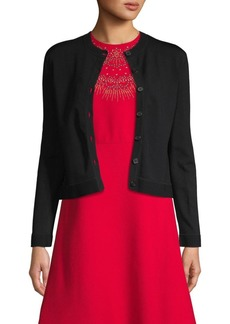 Valentino Lace Back Cardigan Sweater