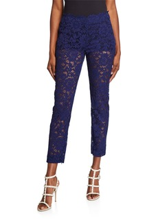 Valentino Lace Cropped Trouser Pants