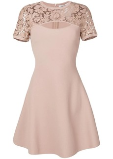 Valentino lace cut out detail dress